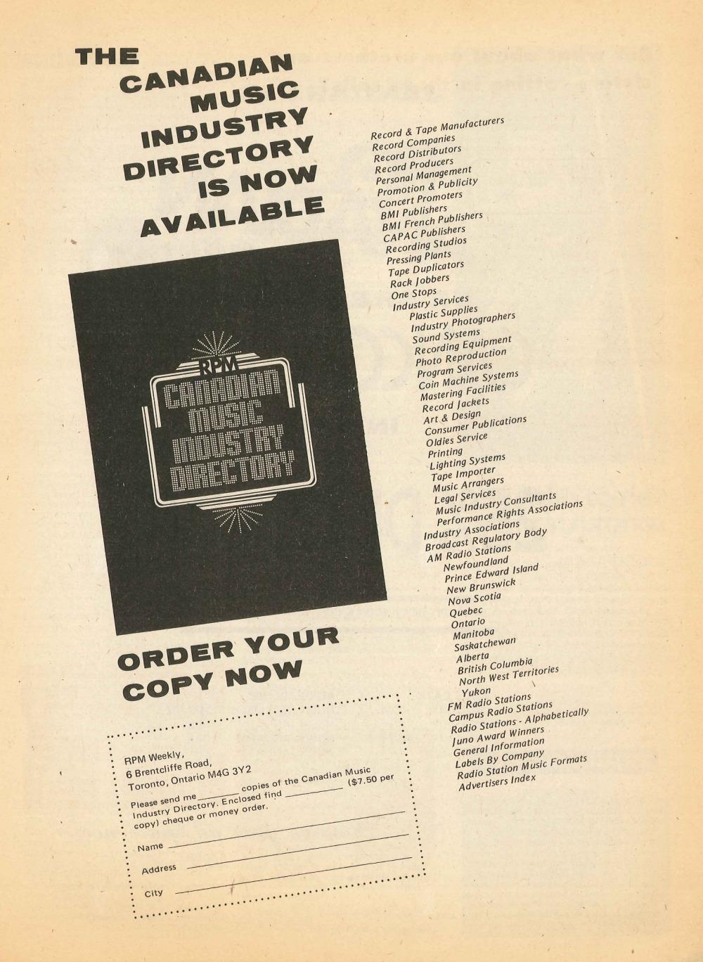 RPM Magazine: January 11, 1975 | 33 & 45 Records & Art