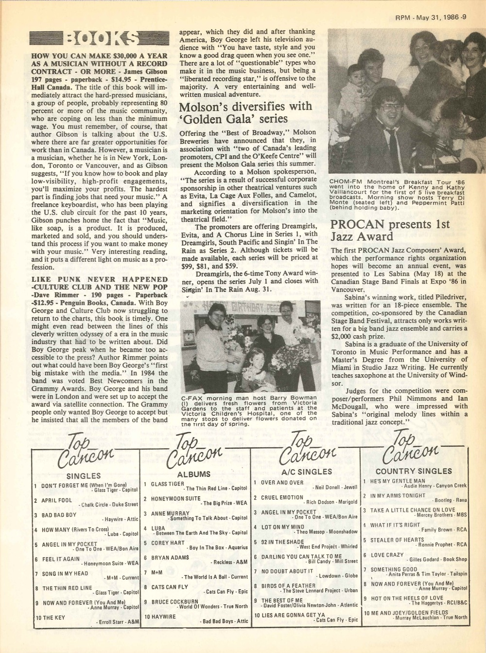 RPM Magazine: May 31, 1986   33 & 45 Records & Art