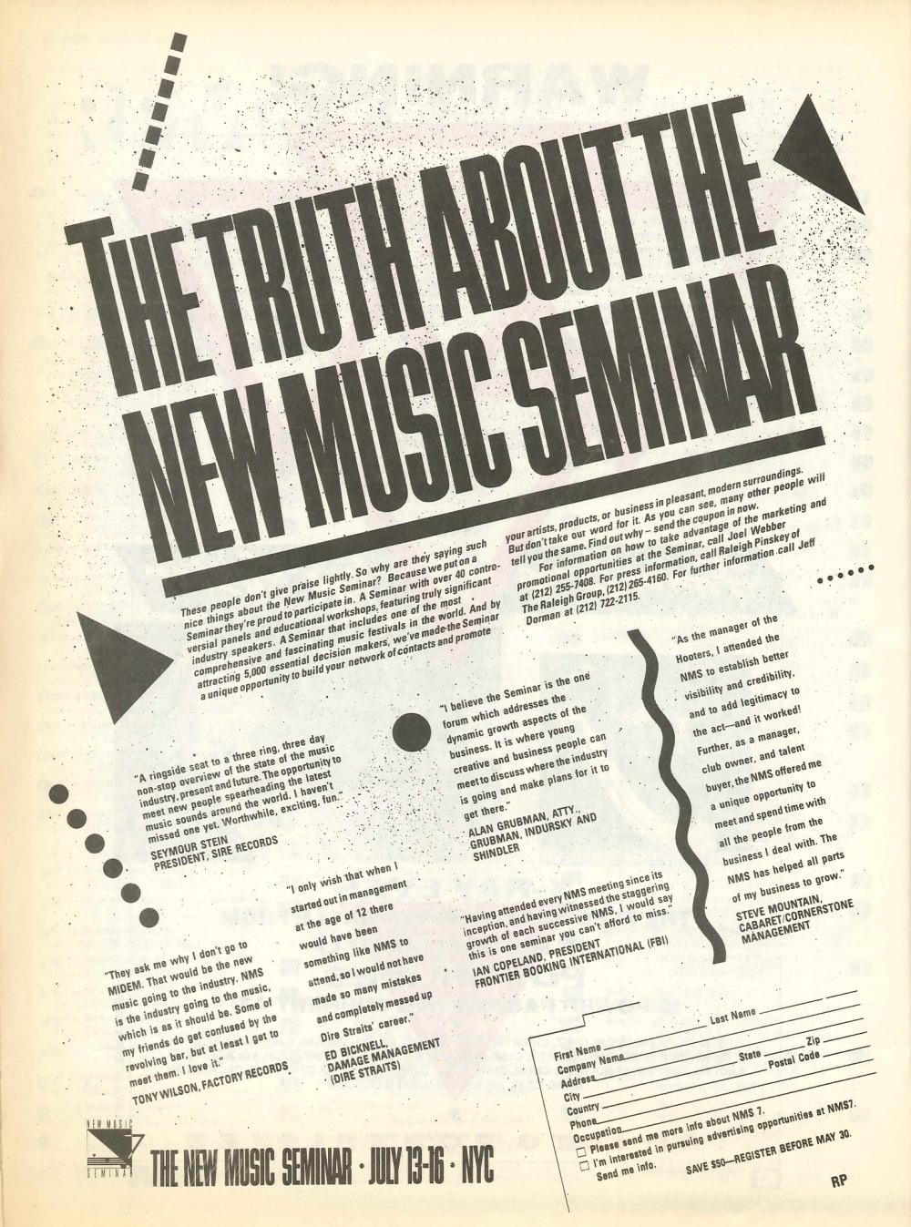 p>RPM Magazine: April 19, 1986</p> | 33 & 45 Records & Art