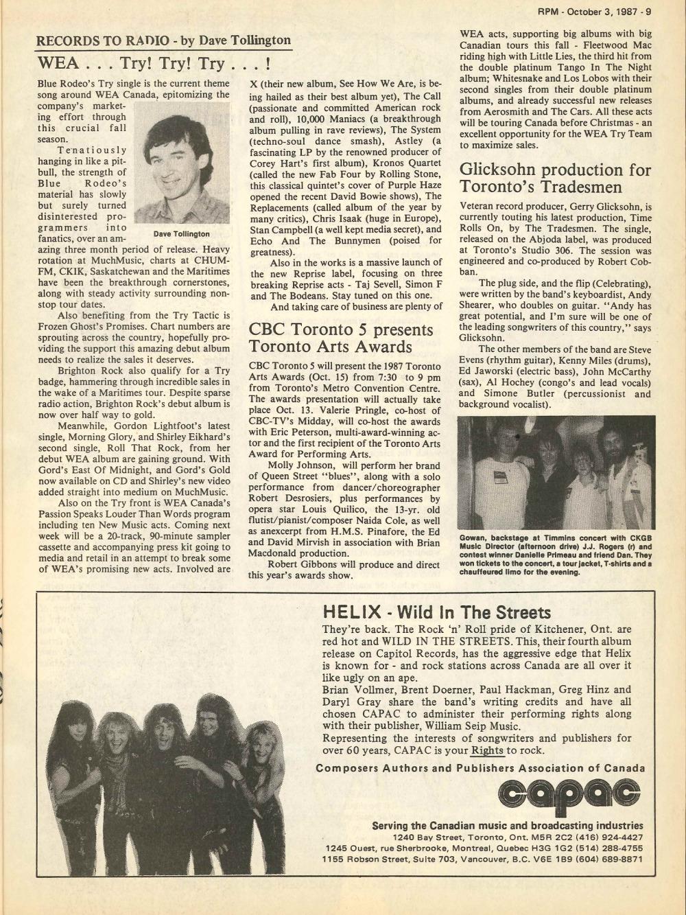p>RPM Magazine: October 3, 1987</p> | 33 & 45 Records & Art