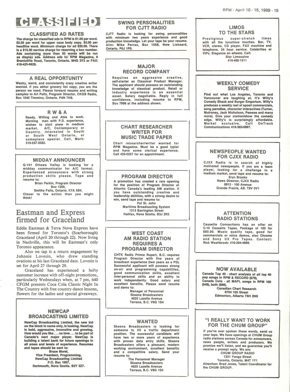 p>RPM Magazine: April 10, 1989</p> | 33 & 45 Records & Art