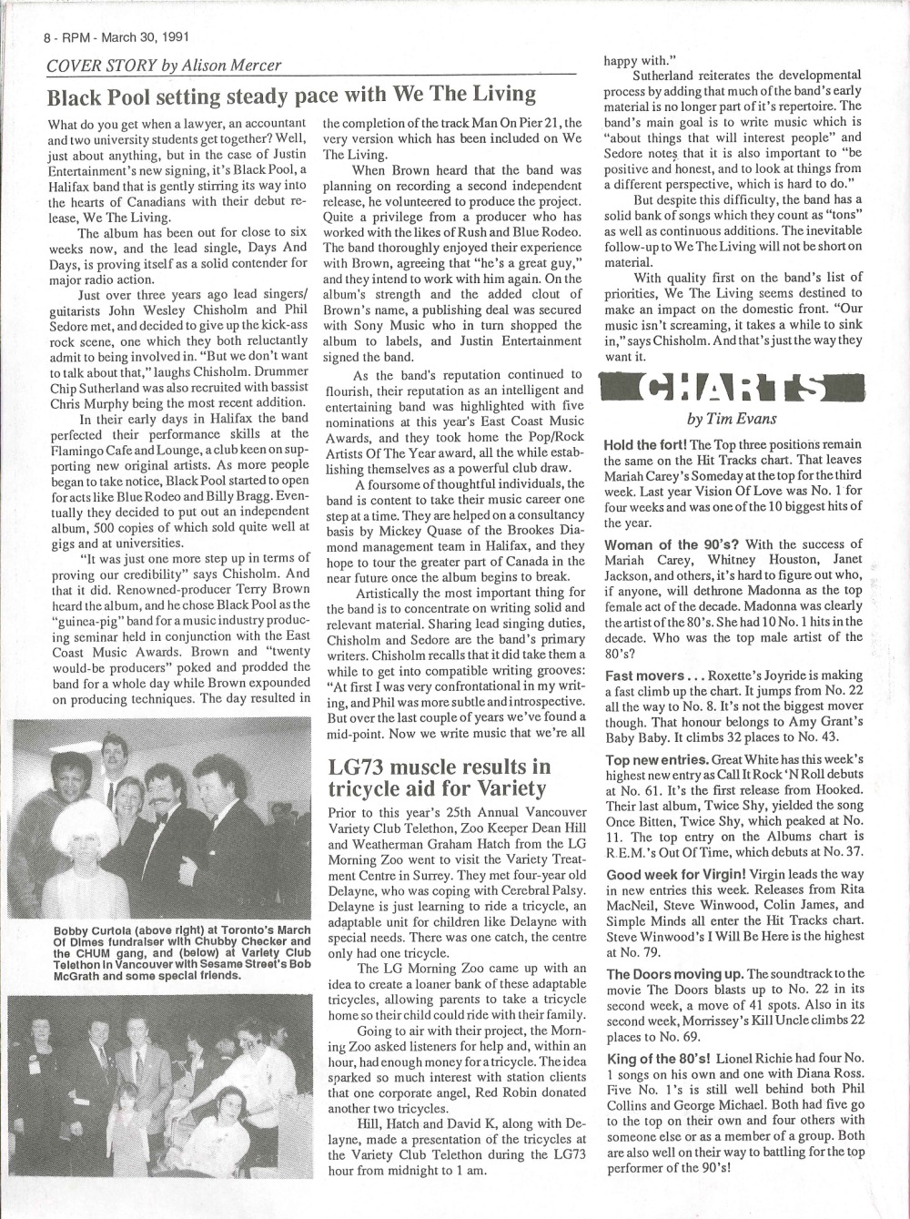 RPM Magazine: March 30, 1991 | 33 & 45 Records & Art