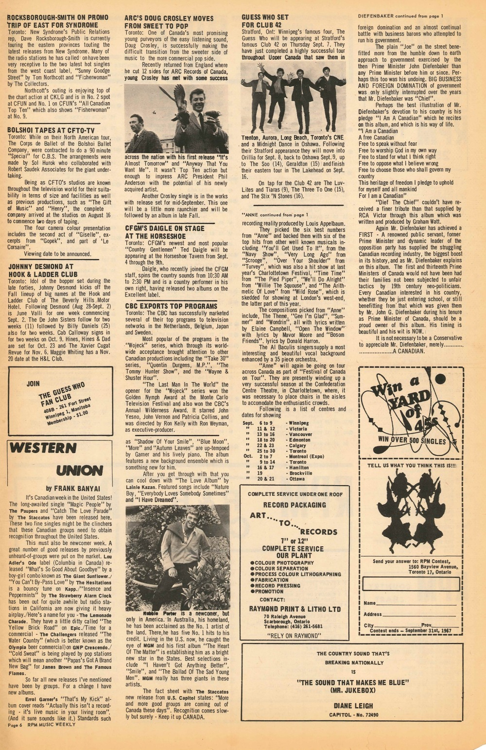 RPM Magazine: September 9, 1967 | 33 & 45 Records & Art